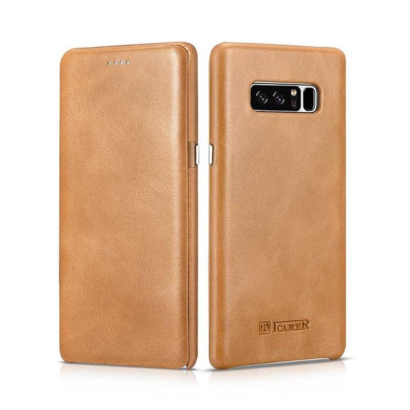 Bao da Icarer Galaxy Note 8 màu vàng bò