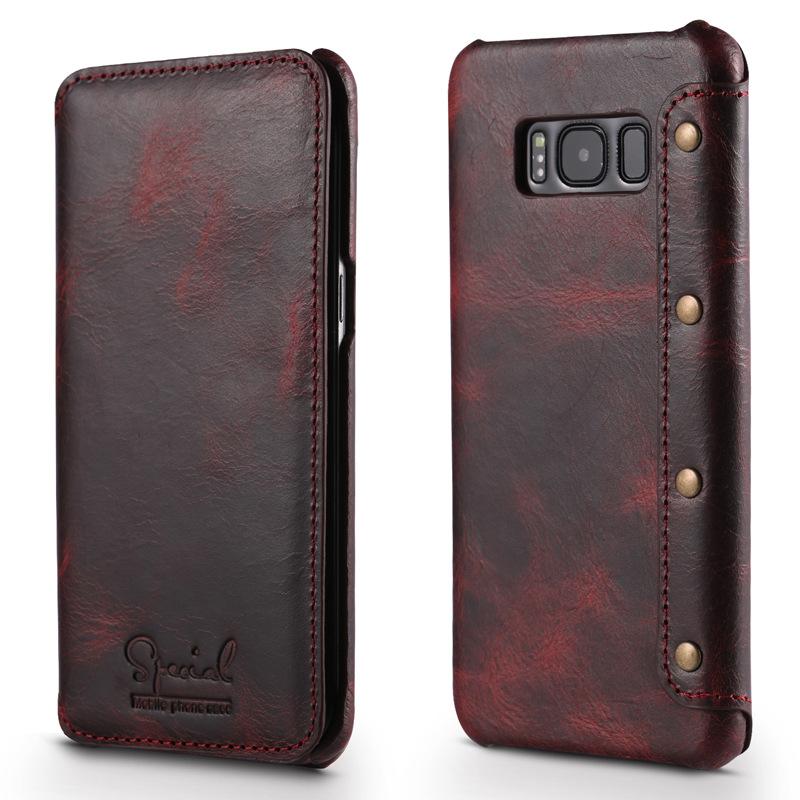 Bao da Special Luxury Galaxy S8 Plus màu nâu đỏ