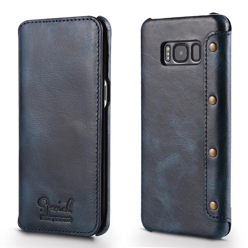 Bao da Special Luxury Galaxy S8 Plus màu xanh navy
