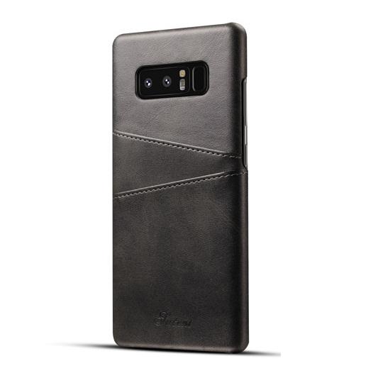Ốp lưng Luteni Galaxy Note 8 bọc da bò màu đen