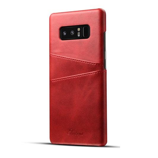 Ốp lưng Luteni Galaxy Note 8 bọc da bò màu đỏ