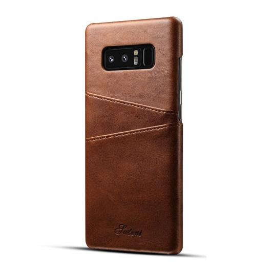 Ốp lưng Luteni Galaxy Note 8 bọc da bò màu nâu