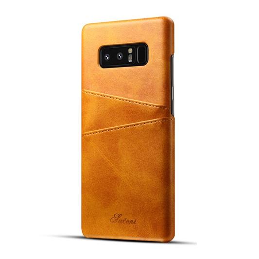 Ốp lưng Luteni Galaxy Note 8 bọc da bò màu vàng bò