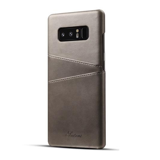 Ốp lưng Luteni Galaxy Note 8 bọc da bò màu xám