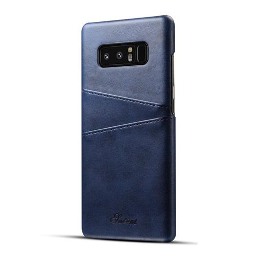 Ốp lưng Luteni Galaxy Note 8 bọc da bò màu xanh navy