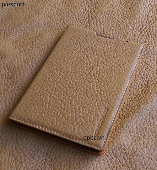 Bao da IONECASE Blackberry Passport  Pro vàng bò nhạt đóng mở màn hình
