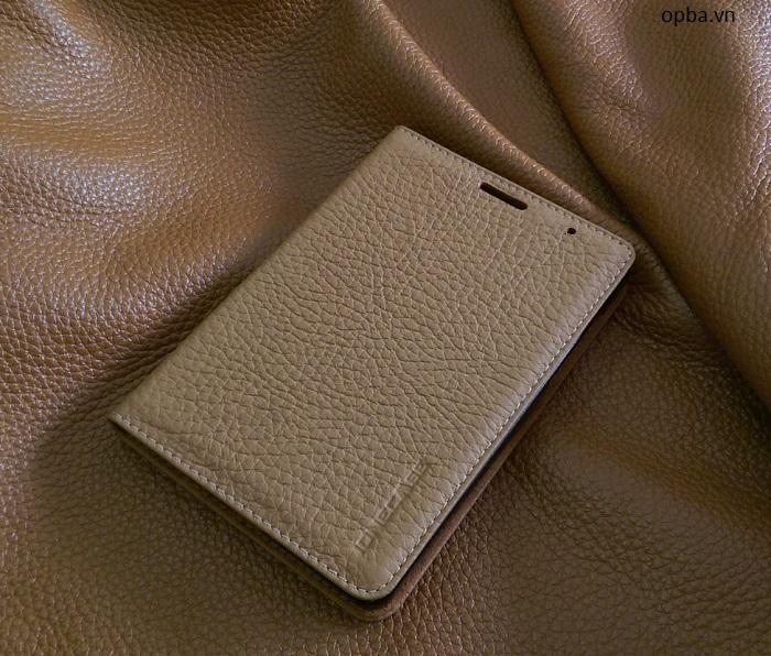 Bao da iONE Blackberry Passport Silver Edition da bò màu da bò đóng mở màn hình