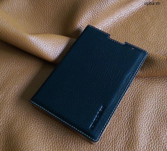 Bao da Blackberry Passport ione LC 100% da bò thật màu đen đóng mở màn hình