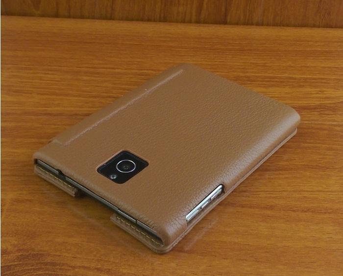 Bao da IONE Blackberry passport Luxury da bò màu nâu