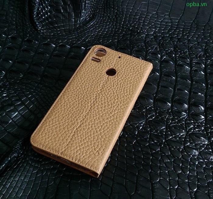 Bao da ionecase HTC 10 Pro da bò màu vàng bò