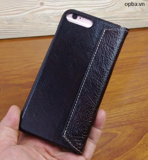 Bao da IPHONE 7 PLUS Pro 100% da bò made in viet nam màu nâu