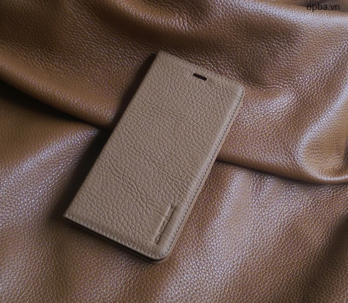 Bao da IONE IPHONE 7 plus LC da bò màu vàng bò nhạt