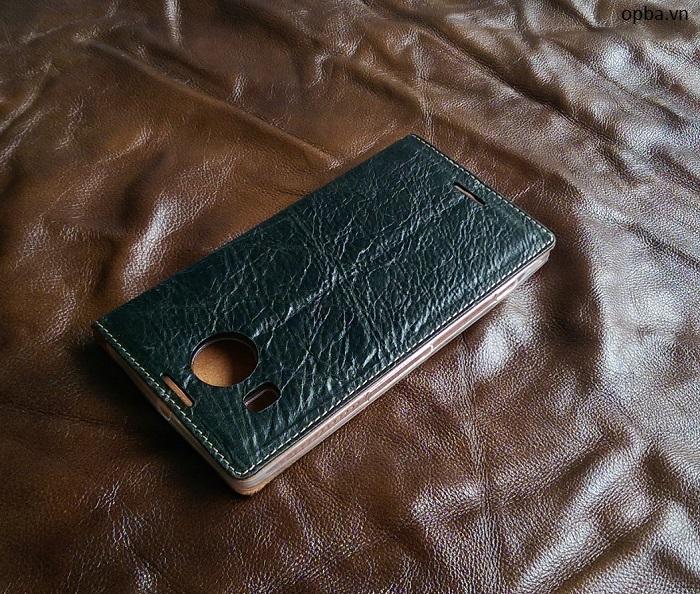 Bao Da IONE Nokia Lumia 950XL leather made in việt nam màu đen