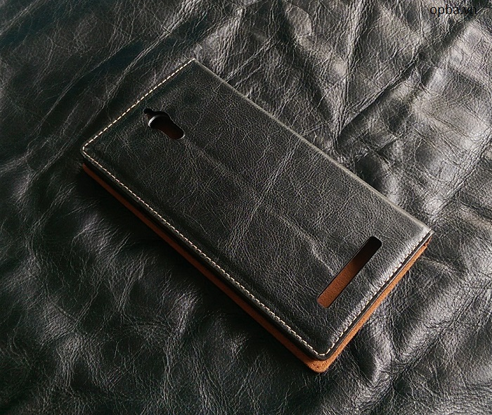 Bao da ionecase Oppo Find 7A Leather made in việt nam màu đen