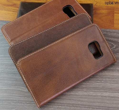 Bao Da IONE Samsung Galaxy S6 Edge Vintage Made In Vietnam 100% Leather