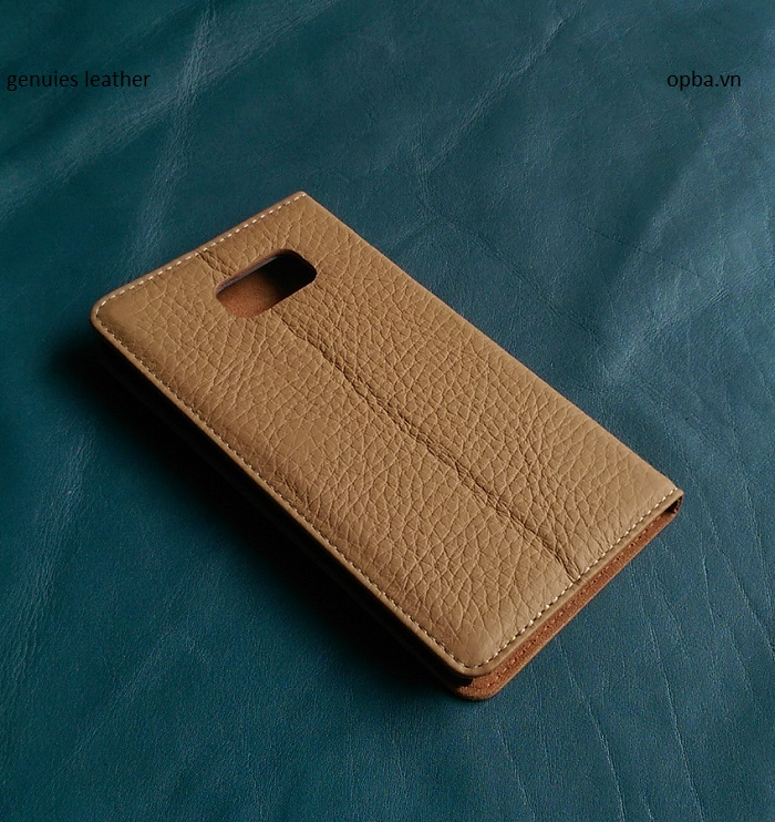 Bao Da iONE Samsung Galaxy Note 5 leather  Made In Vietnam màu vàng bò