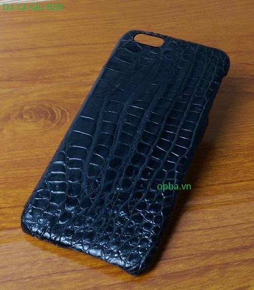 Ốp lưng IONE IPHONE 6/6S Bọc da cá sấu made in vietnam 100% leather màu đen