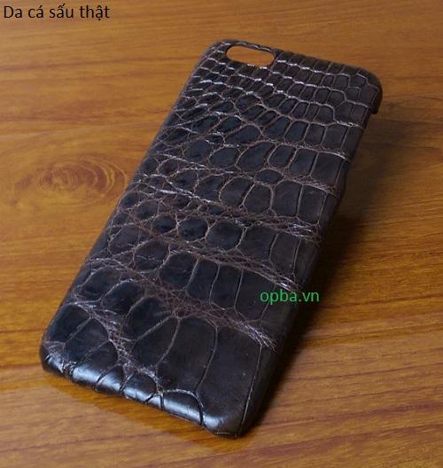 Ốp lưng IONE IPHONE 6plus/6S PLUS Bọc da cá sấu made in vietnam 100% leather màu nâu  copy