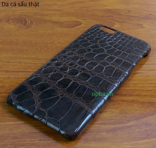 Ốp lưng IONE IPHONE 6plus/6S PLUS Bọc da cá sấu made in vietnam 100% leather màu nâu