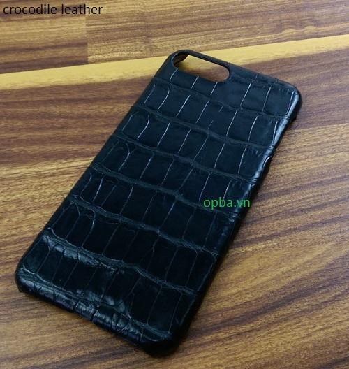 Ốp lưng IONE IPHONE 7 Bọc da cá sấu made in vietnam 100% leather màu đen