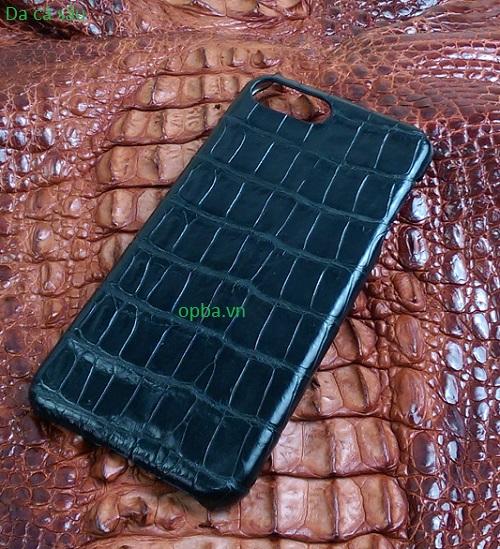 Ốp lưng IONE IPHONE 7 PLUS Bọc da cá sấu made in vietnam 100% leather màu đen