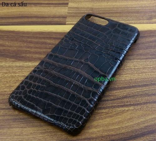 Ốp lưng IONE IPHONE 7 Bọc da cá sấu made in vietnam 100% leather màu nâu đất