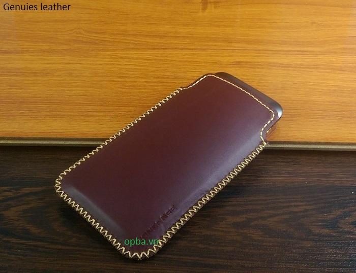 Bao Da Túi Rút IONECASE iPHONE 7 Plus Da Bò Màu Nâu