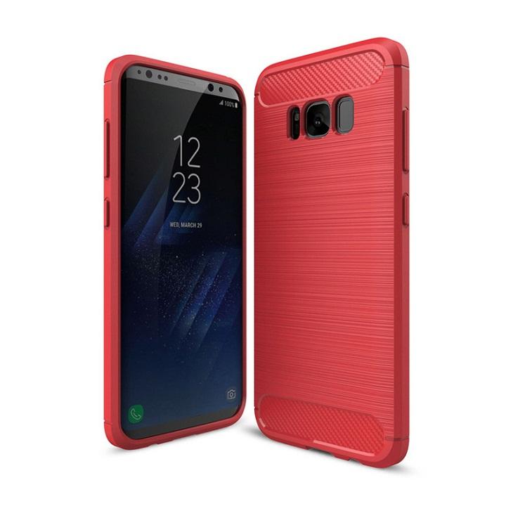 Ốp lưng Galaxy S8 Plus chống sốc dẻo màu đỏ