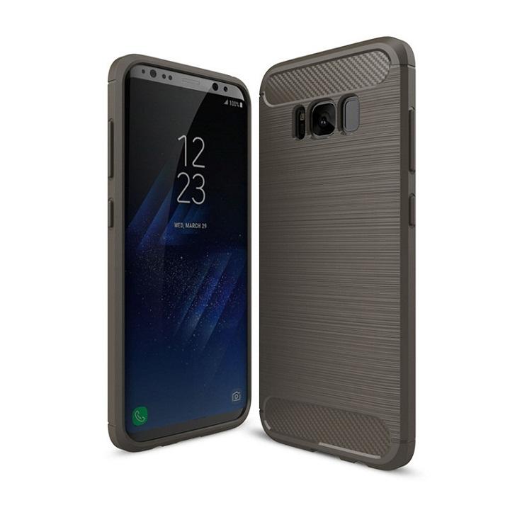 Ốp lưng Galaxy S8 Plus chống sốc dẻo màu xám