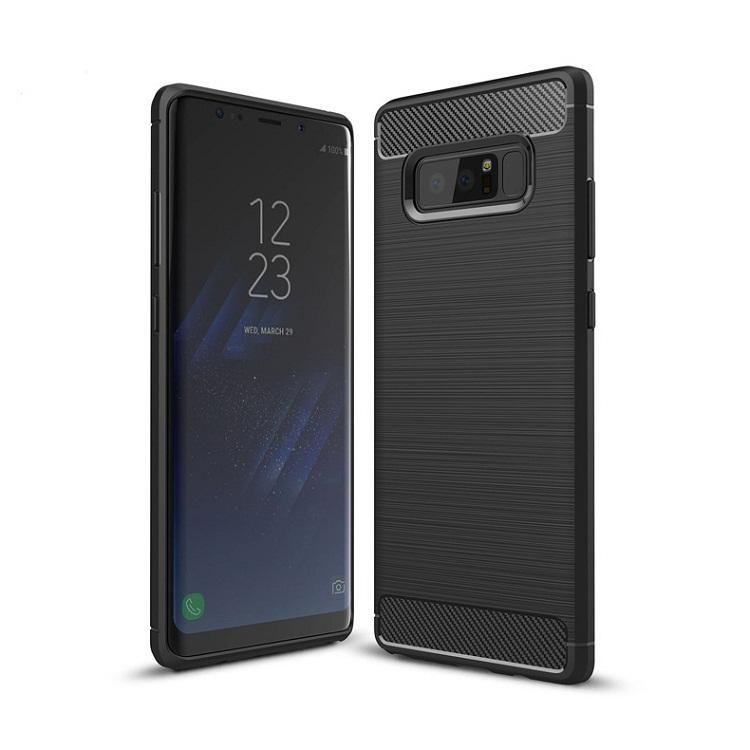 Ốp lưng Galaxy Note 8 chống sốc dẻo màu đen