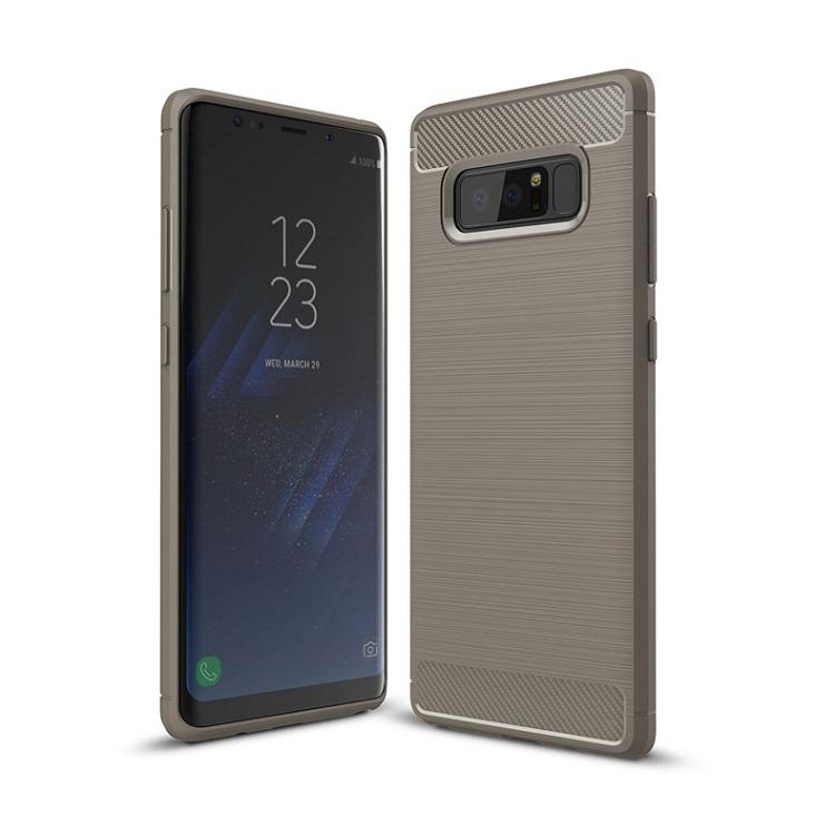 Ốp lưng Galaxy Note 8 chống sốc dẻo màu xám