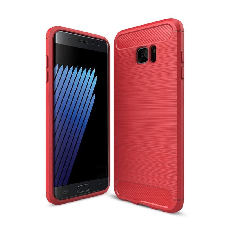 Ốp lưng Galaxy Note Fan Edition chống sốc dẻo màu đỏ