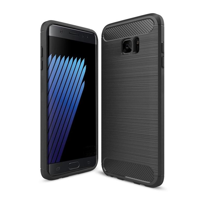 Ốp lưng Galaxy Note Fan Edition chống sốc dẻo màu đen