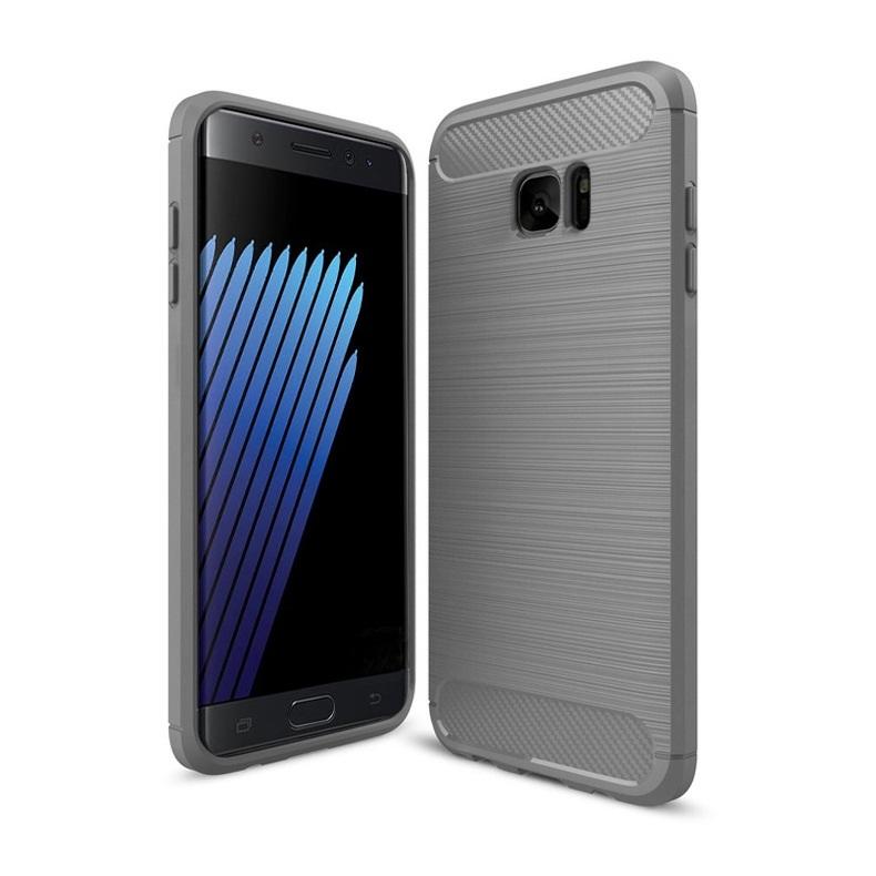 Ốp lưng Galaxy Note Fan Edition chống sốc dẻo màu xám