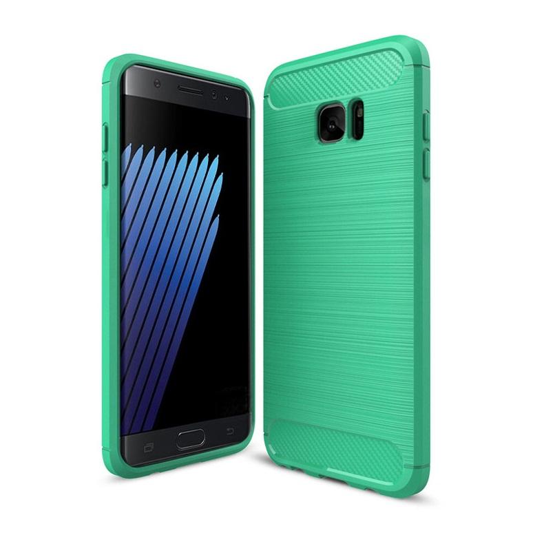 Ốp lưng Galaxy Note Fan Edition chống sốc dẻo màu xanh lá