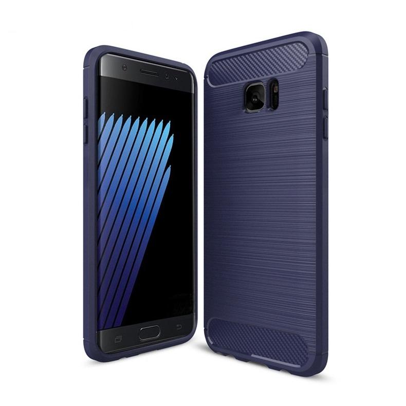 Ốp lưng Galaxy Note Fan Edition chống sốc dẻo màu xanh navy