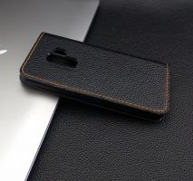 bao da ionecase samsung galaxy S9 plus handmade leather đen hạt